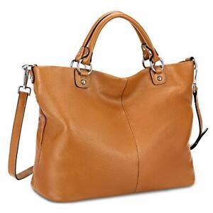 Genuine Leather Tote Bag Top Satchel