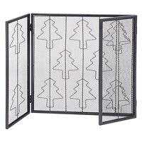 Folding 3 Panel Steel Fireplace Screen Doors Heavy Duty Christmas Tree Decor