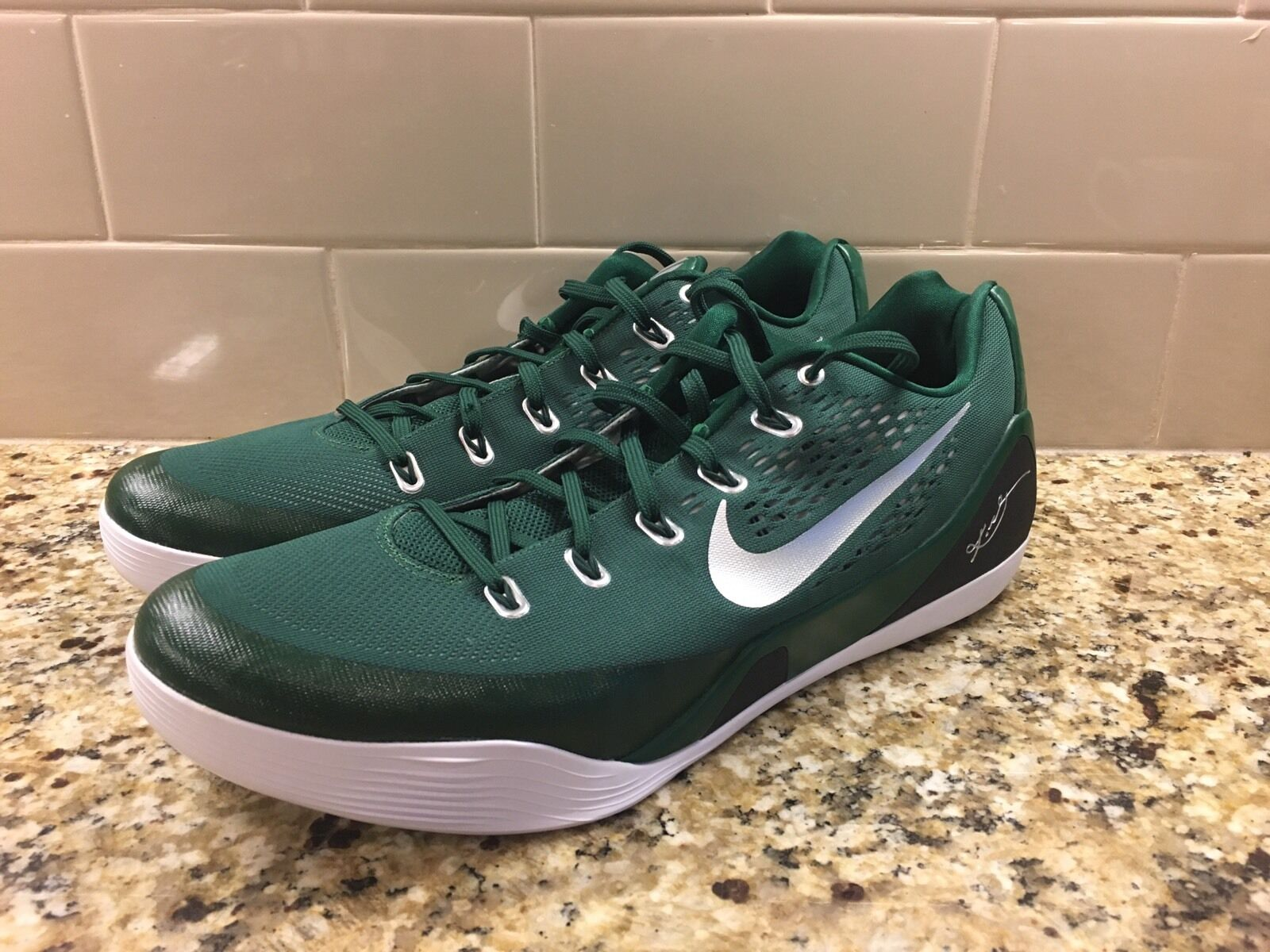 Uomo  160 NIKE KOBE IX 9 EM TB Basketball Shoes 685776 301 GREEN WHITE sz 16.5