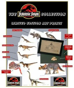 Jurassic-Park-Collection-Limited-Edition-Lithograph-Prints-Set-of-9-Prints