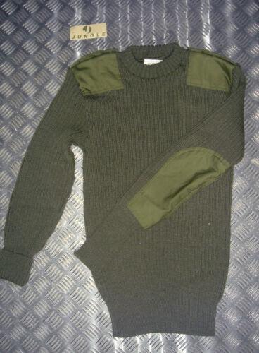 Green Commando Jumper Wool Crew Neck Very Warm All Sizes Genuine British Army