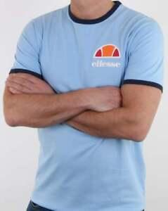 7008b3d68e541f Ellesse Algila T Shirt in Light Blue - short sleeve crew neck ringer ...