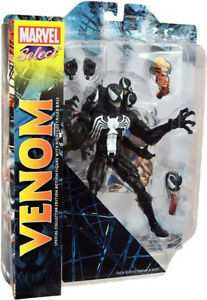 Figurine d'action Venom de Marvel Comics Select 1ère édition Edtion Packaging très rare
