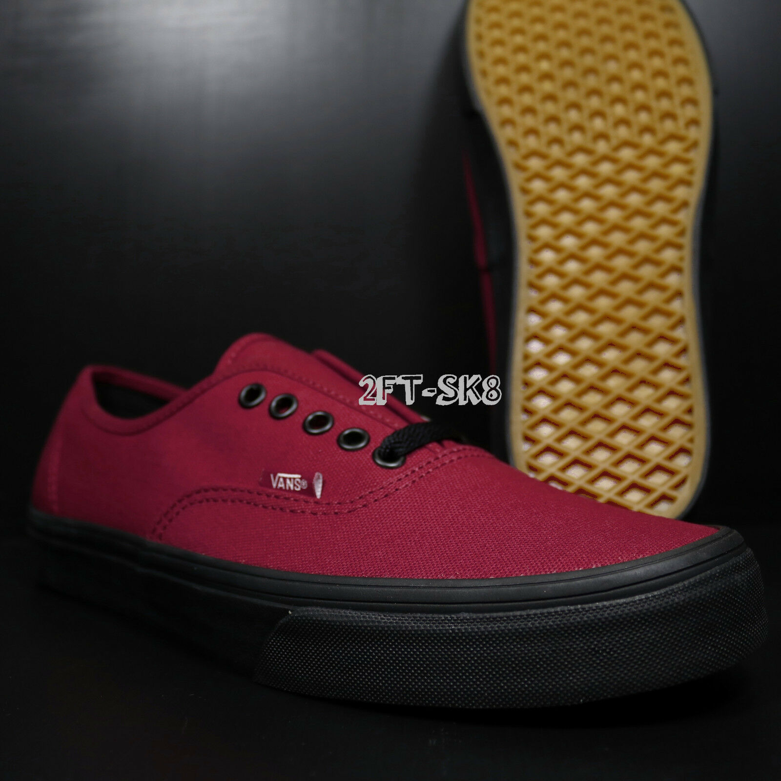 NEW VANS AUTHENTIC BLACK SOLE JESTER RED MEN'S SKATE SHOES SHOES SKATE /S89159.084 0f9d9a