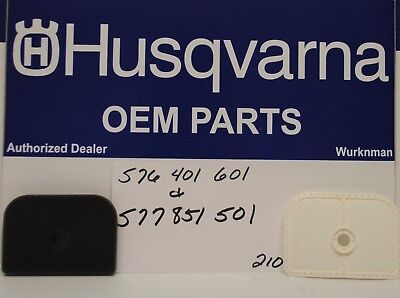 4 Sets of Genuine Husqvarna Air Filters 577851501 /& 576401601 for 525 Trimmer