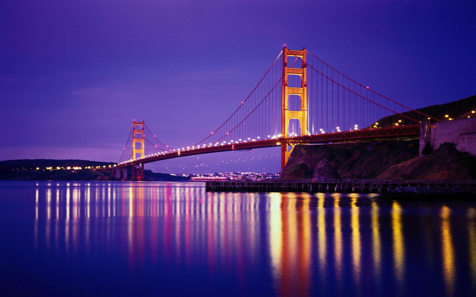 3D Belle Golden Gate Bridge Bridge Bridge Décor Mural Murale De Mur De Cuisine AJ WALLPAPER FR | Art Exquis  6f5b26
