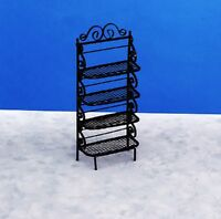 Dollhouse Miniature Bakers Rack In Black