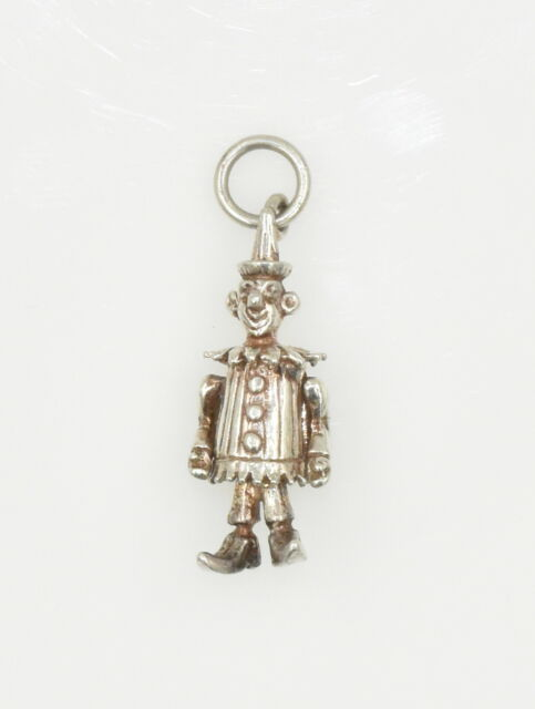 Vintage Sterling Silver Charm Articulated Clown