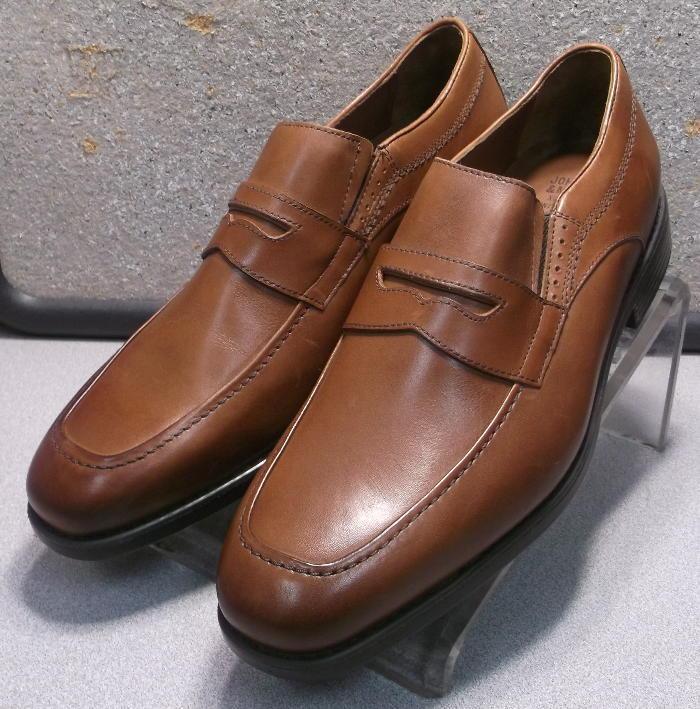 152700 MS50 Men's shoes Size 11.5 M Tan Leather Slip On Johnston & Murphy