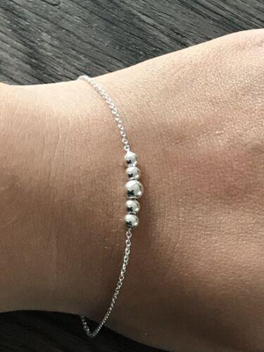 bracelet en argent massif 925 Femme Boules thanina Bijoux