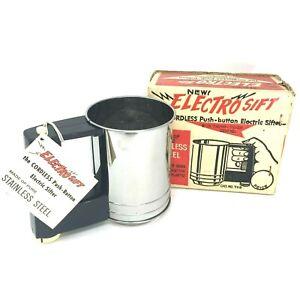 NOS-1960-039-s-Vintage-Electro-Sift-sifter-Art-Deco-Nostalgic-Kitchen-Antique-Flour