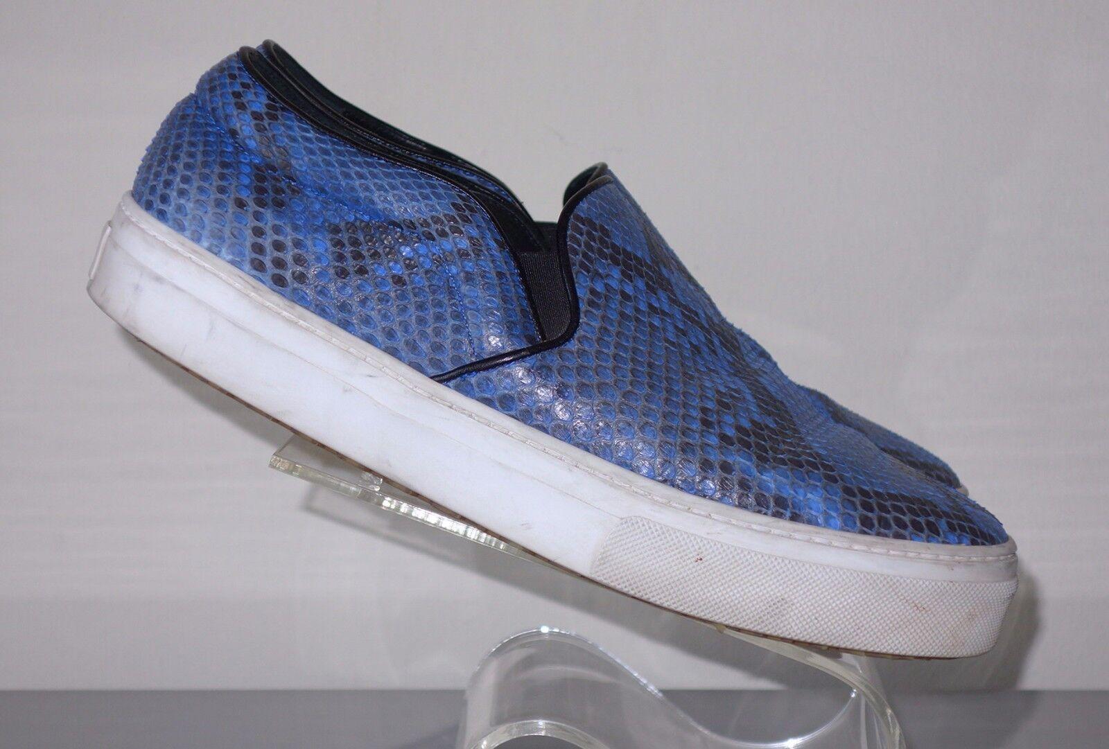 CELINE    Phoebe Philo blu Snakeskin Slip-On Skater scarpe da ginnastica Sz 38 1 2 996ad5