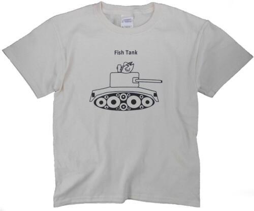 Kids Unisex Funny Fish Tank Tee Natural Color Fun Gag T Shirt Gift Boys Girls