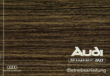 Bedienungsanleitung Audi Super 90 Originale Betriebsanleitung 1967 manual manuel