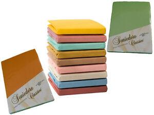 Classico-Spannbetttuch-Spannbettlaken-Jersey-Baumwoll-Laken-33-Farben
