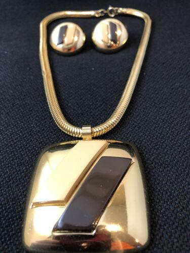 VINTAGE LANVIN PARIS HAUTE COUTURE GOLD CREAM & B… - image 1