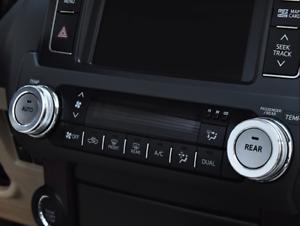 Silver Interior Air Conditioning knob Trim Ring For Toyota Prado FJ150 2010-2018