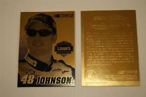 JIMMIE-JOHNSON-2003-Laser-Line-Gold-Card-LOWES-48-NM-MT-Limited-Edition-NASCAR