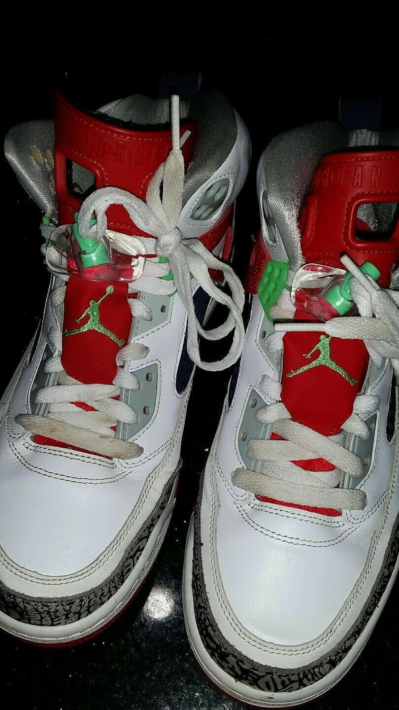 NIKE AIR JORDAN SPIZIKE White Light Poison Green Red 315371-132 US 8.5