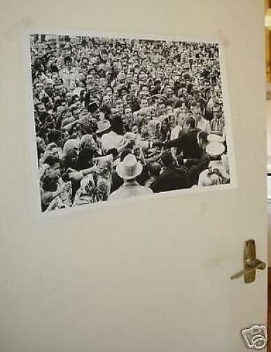 John F Kennedy President Door Poster JFK Crowd