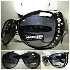 WRAP AROUND DRIVING POLARIZED SUN GLASSES Black Frame Wear Over RX Glass Fit