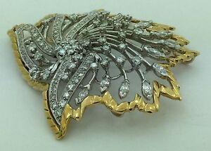 2b381d96068 Ladies Vintage 1960's 18k Yellow & White Gold Designer B.Ross Estate ...
