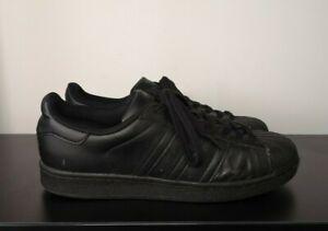 Mens-Adidas-Superstar-Black-Leather-Trainers-UK-9