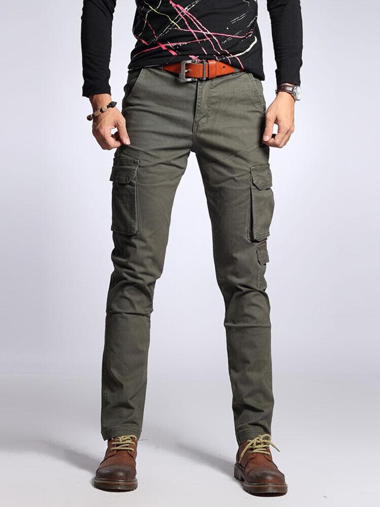 Bolsillo de  Cochega para hombre Slim Fit Pantalones Militar Deporte Outdoor Casual Mono Pantalón  todos los bienes son especiales