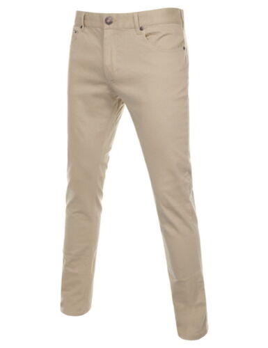 TheLees Mens Casual Trousers Slim Fit Slacks Stretchy Cotton Pants NKBJ601