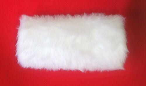 3 Différent Tailles Uni Couleurs /& Fausse Fourrure Main Manchon avec Cou Cordon