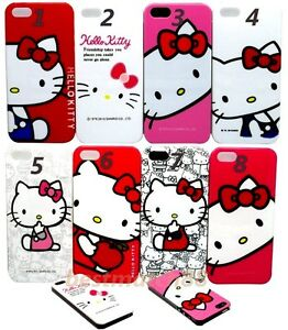 for-iPhone-5-5s-cute-hello-kitty-case-cover-skin-hot-pink-red-white-blue-faces