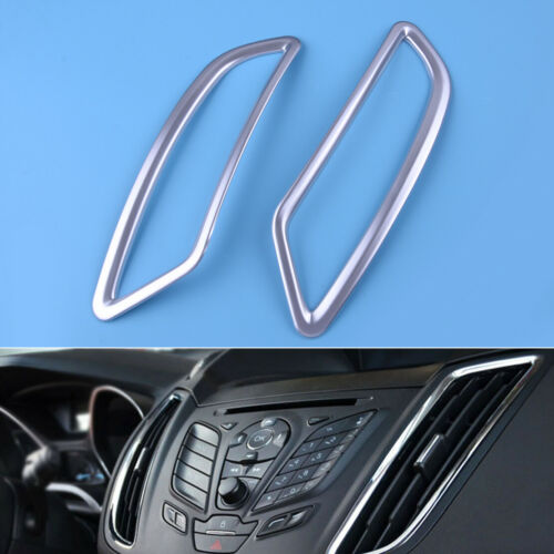 2pcs Chrome Side Dashboard Air Vent Frame Trim Fit For Ford Escape Kuga 13-2018