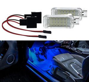 2X-Fussraumbeleuchtung-VW-GOLF-5-6-7-AUDI-B6-7-8-PORSCHE-SEAT-LED-Modul-Blau-IB22