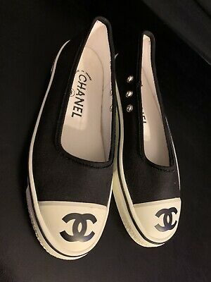 Vintage Chanel Canvas Converse Slippers