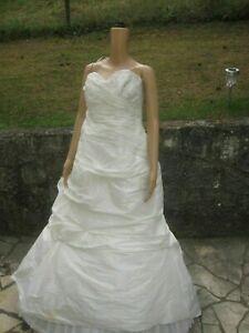 (B111) Edles Damen Braut Standesamt Kleid GR: GR: 44   eBay