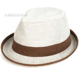 Image is loading men-women-FEDORA-trilby-hats-cap-straw-NWT- cf6779c4ee61