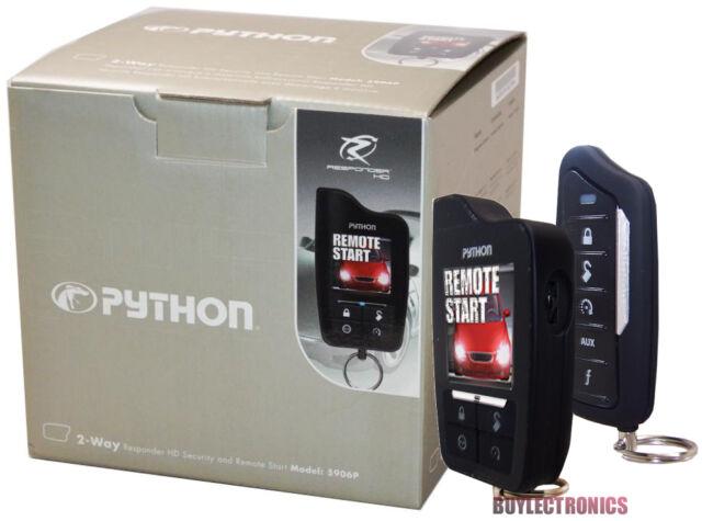 Python 5906P HD Car Remote Start /Security/ Keyless Entry 2-Way Responder 5906