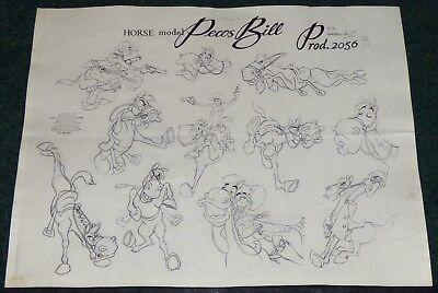 Walt Disney Melody Time Pecos Bill 1948 Widowmaker Horse Original Model Sheet Ebay