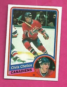 1984-85-OPC-259-CANADIENS-CHRIS-CHELIOS-ROOKIE-NRMT-CARD-INV-C8567