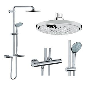 grohe euphoria 27296 27296001 duschsystem duschs ule regendusche rainshower 4005176896293. Black Bedroom Furniture Sets. Home Design Ideas