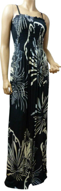 Strappy Summer Maxi Dress UK Size 10 - 26 (RAD-TRE) In Various Lengths