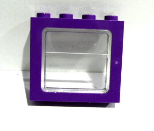 Lego 1x Lego Eisenbahn//Harry Potter Bus Fenster 1x4x3 lila,Glas selten!