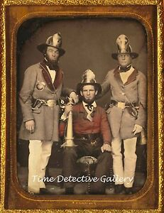 Daguerreotype-Image-Firemen-Charleston-S-Carolina-c1855-Historic-Photo-Print