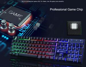 846dd5ead5b Limeide GT300 Colorful LED Backlit USB Wired PC Rainbow Gaming ...
