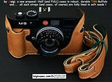 *LUIGI's HALF CASE+STRAP X LEICA: M-E,M9P,M9 MM1,M8-2,M8,DURABLE BUFFALO LEATHER