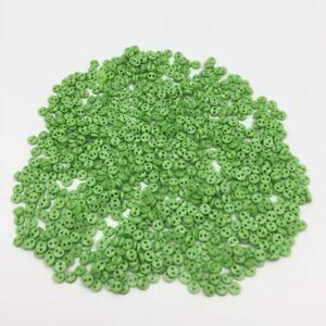 50-bouton-rond-4-mm-couture-scrapbooking-bricolage-2-trou-mercerie-creation-vert
