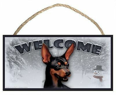 Siberian Husky Winter Season Welcome Dog Sign featuring art of S Rogers