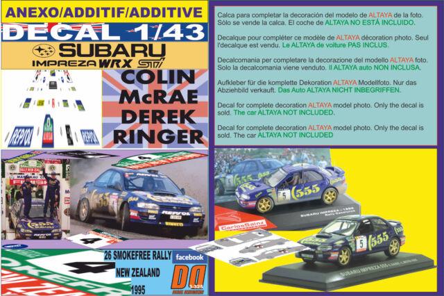ANEXO DECAL 1/43 SUBARU IMPREZA 555 C.MCRAE R.NEW ZEALAND 1995 WINNER (12)