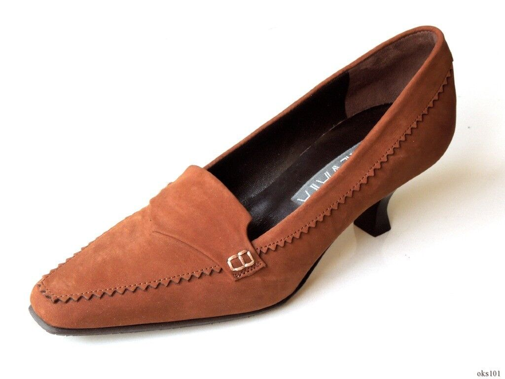 new 345 PREVATA 'Danube' chestnut Braun Leder classic heels schuhe 5 -