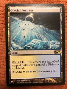 1 PLAYED Glacial Fortress Land m10 Magic 2010 Mtg Magic Rare 1x x1